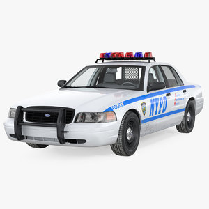 crown victoria police car 3D