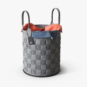 basket laundry 3D model