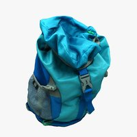 kid backpack 3D model