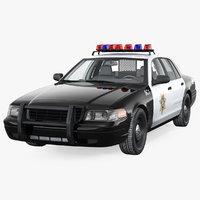 3D las vegas police car