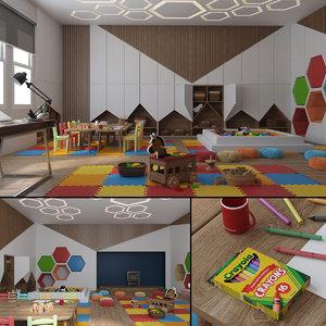 kindergarten kinder 3D model