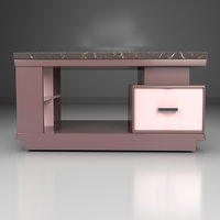 3D furniture desk room