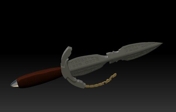 sith dagger print rise 3D model