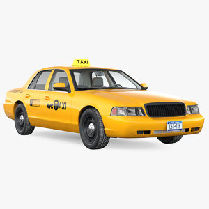 crown victoria yellow taxi model