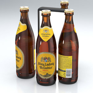 bier weissbier 3D model