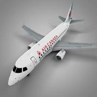 3D air canada express embraer175 model