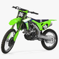 motocross bike generic moto 3D model