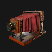 Retro Camera Low-poly 3D model