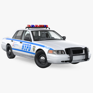 generic police car nypd 3D model