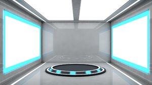 3D sci fi room model