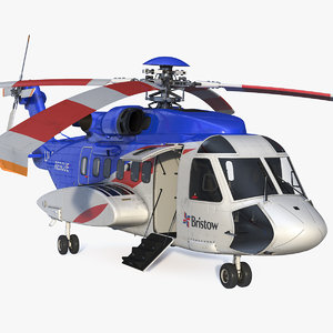 sikorsky s-92 civil helicopter 3D model