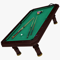 3D billard table model