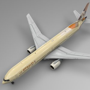 3D model etihad airways boeing 777-300er