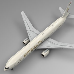 etihad airways boeing 777-300er model