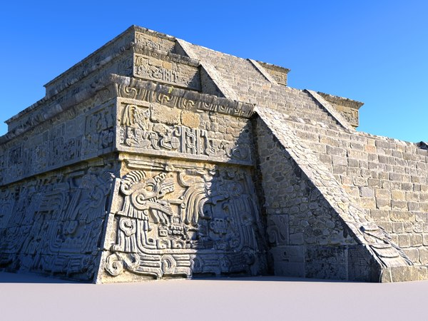piramide xochicalco 16k scanned 3D model