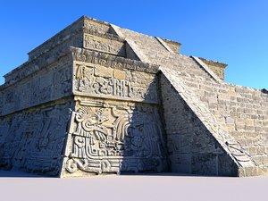 piramide xochicalco 16k scanned 3D model