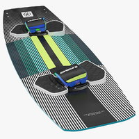 3D slingshot glide kiteboard kite model