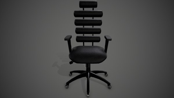 3D ready pbr leather office chair