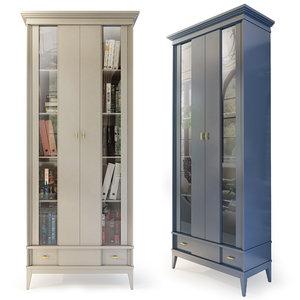 3D model bookcase manhattan