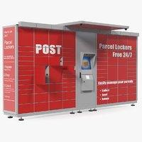 3D post parcel lockers