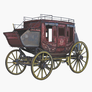 stage coach 3d model