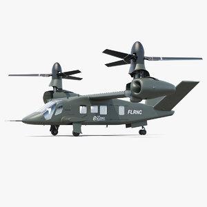 bell v-280 valor tiltrotor 3D model