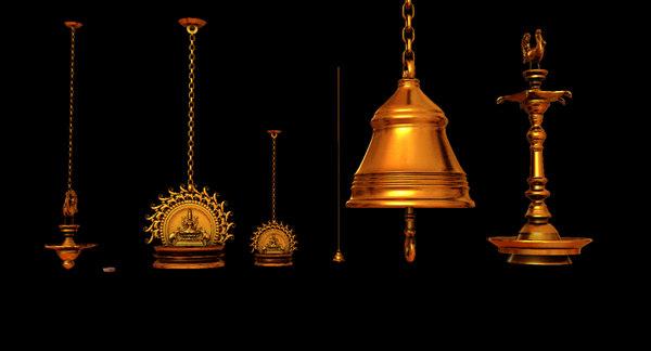 antique lights lamp 3D model