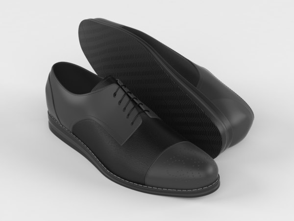 3D realistic men shoes
