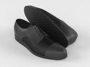 3D realistic men shoes