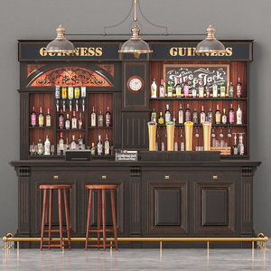 pub bar counter 3D model