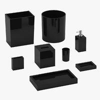 bath accessories 01 3D model