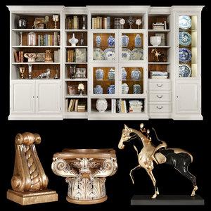 3D selva bookcase cabinet