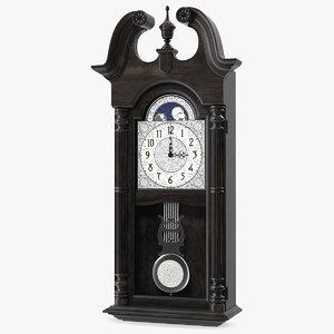 vintage pendulum wall clock 3D
