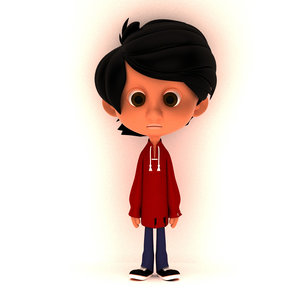 3D model little boy