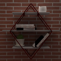 3D model wall decoration
