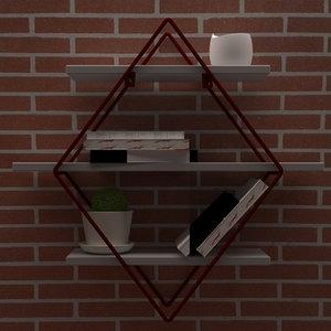 3D model wall decoration