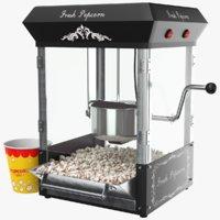 3D real popcorn
