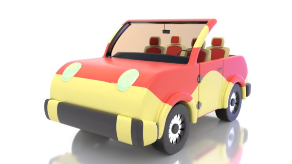 3D model cute toy car cartoon