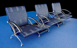 3D airport chair 2