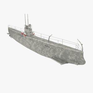 «minoga» submarine navy ship 3D