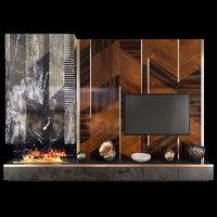 tv wall units set 3D model