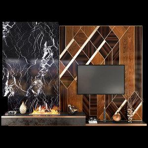 tv wall units set 3D