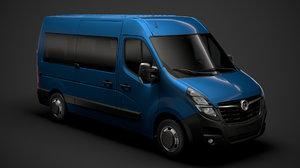 3D vauxhall movano l2h2 windowvan