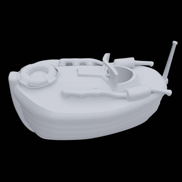 3D speedboat cartoons model