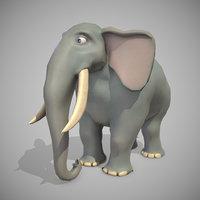 3D elephant ready pbr model