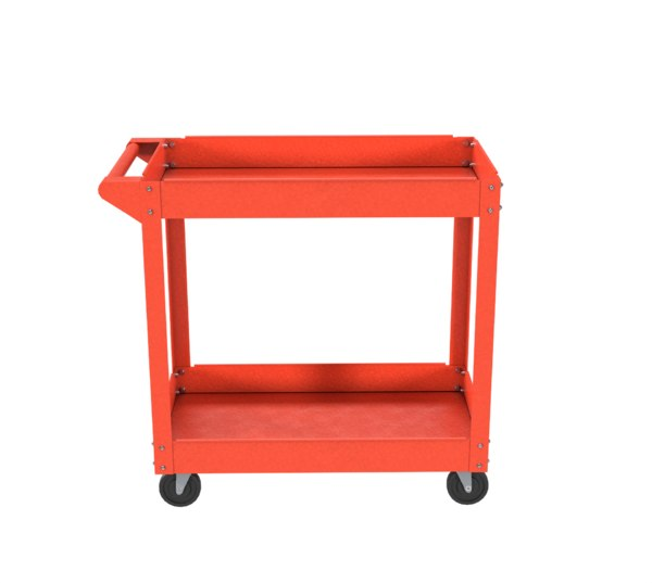cart red painted 3D model