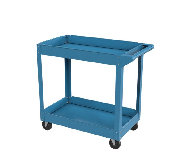 cart blue painted 3D