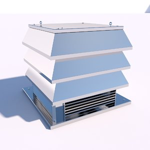 3D fan roof model
