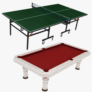 billiard ping pong table model