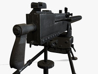 m1919 browning machine gun 3d model